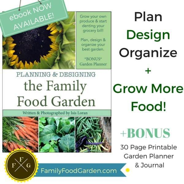 Family Food Gardening Book & Planner