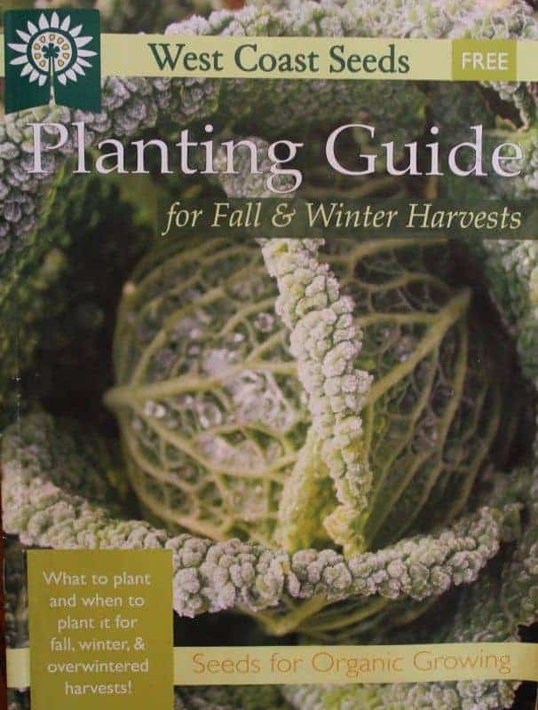 West coast seeds fall & winter planting chart