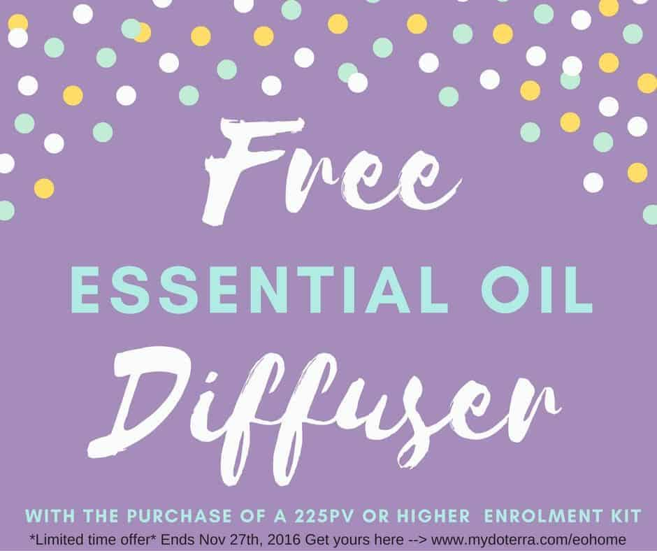 FREE Essential Oil Diffuser (limited time offer- ends Nov 27th, 2016)