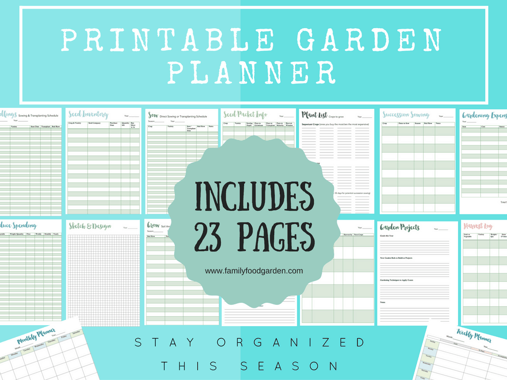 Soft image with printable garden planner