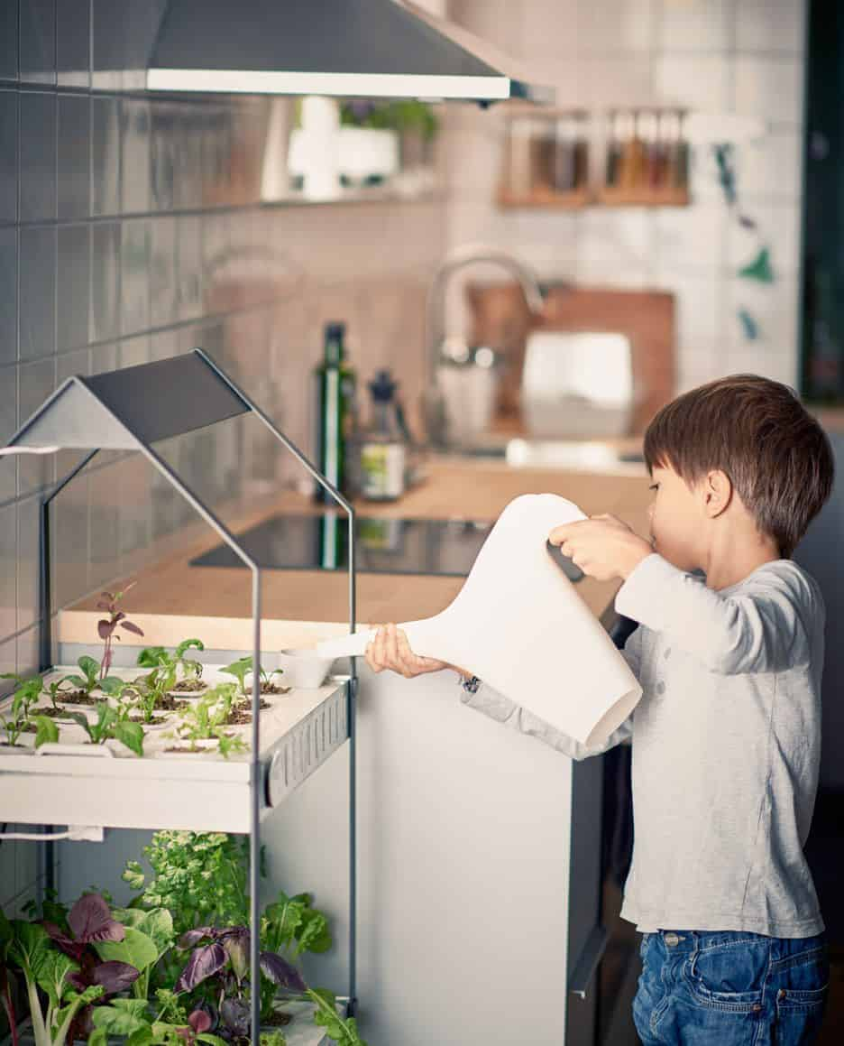 Hydroponic indoor gardening from Ikea