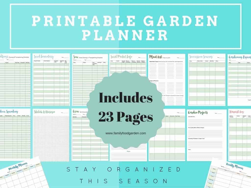 Gorgeous image regarding printable garden planner
