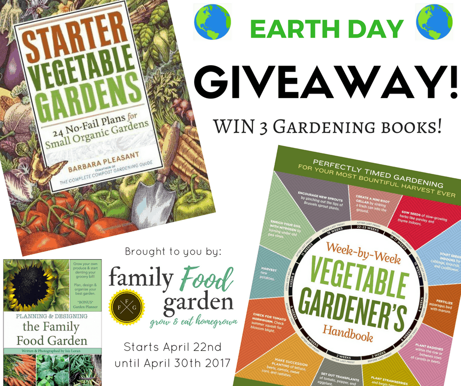 Earth Day Giveaway!! 3 Gardening Books