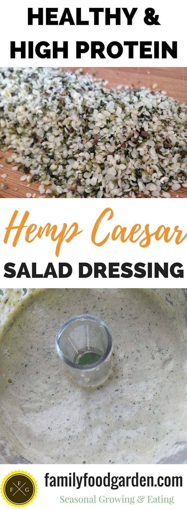 Healthy Hemp Recipes: vegan caesar salad dressing