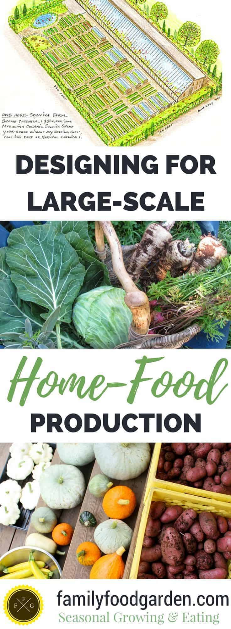 Achieving large-scale food production by growing all of your fruits & vegetables on 1 acre