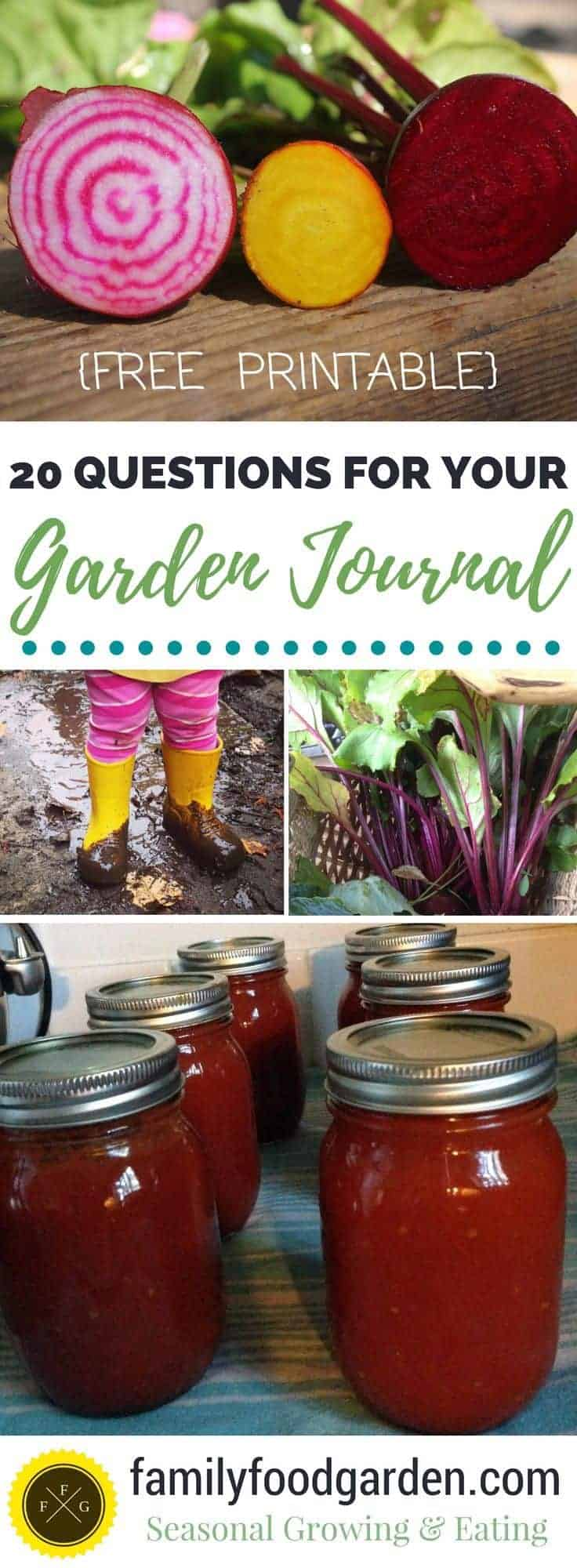How to keep a garden journal + free garden journal printable