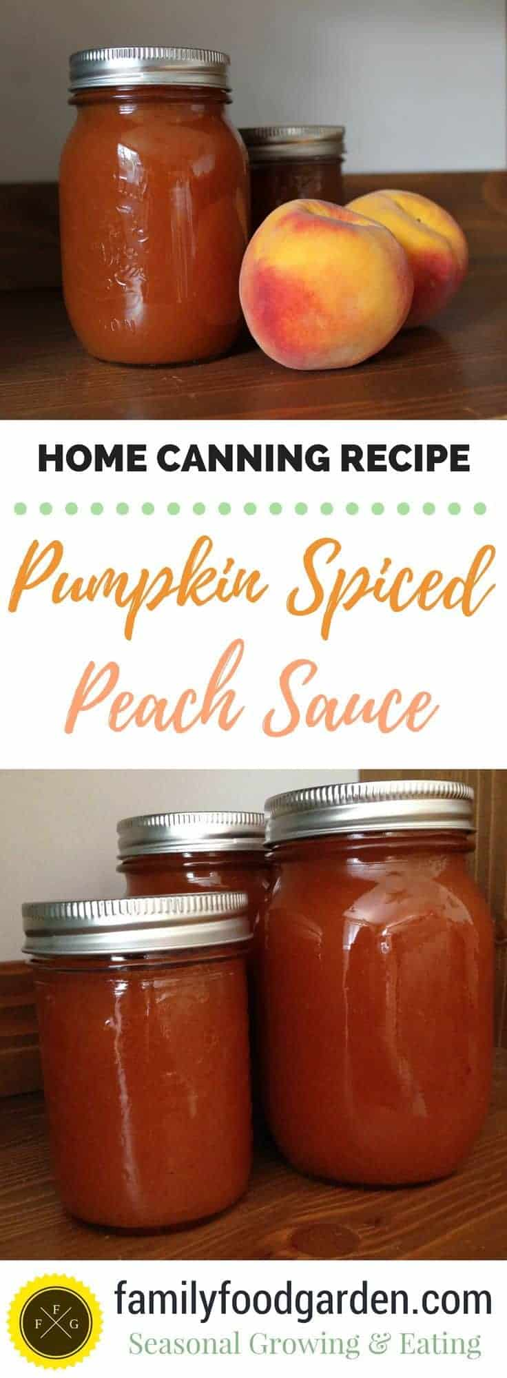 Canning Recipe: Pumpkin Spiced Peach Sauce