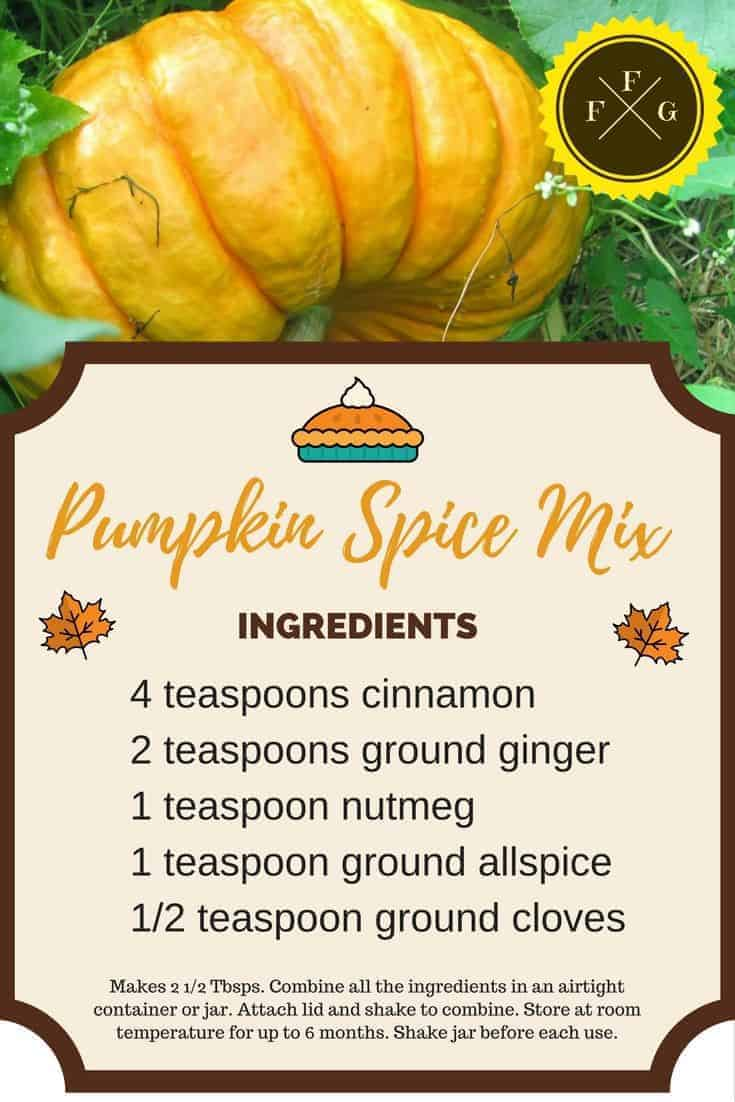 DIY Homemade Pumpkin Spice Mix
