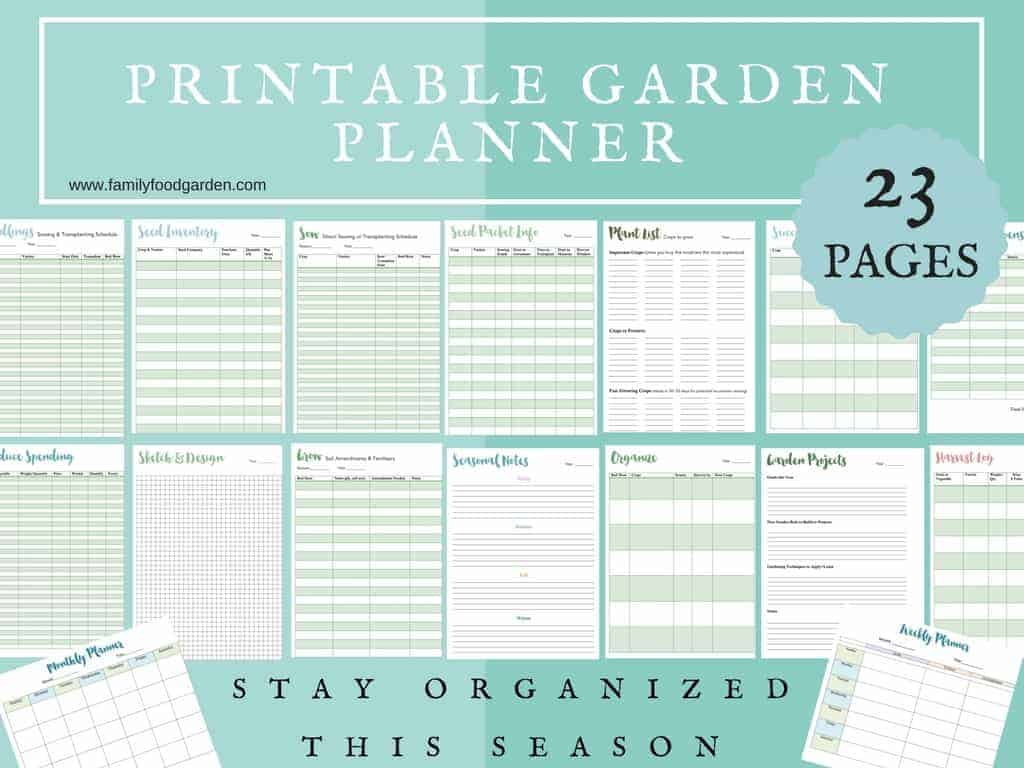 Garden Calendar Planner : Free garden planner for vegetable planning family