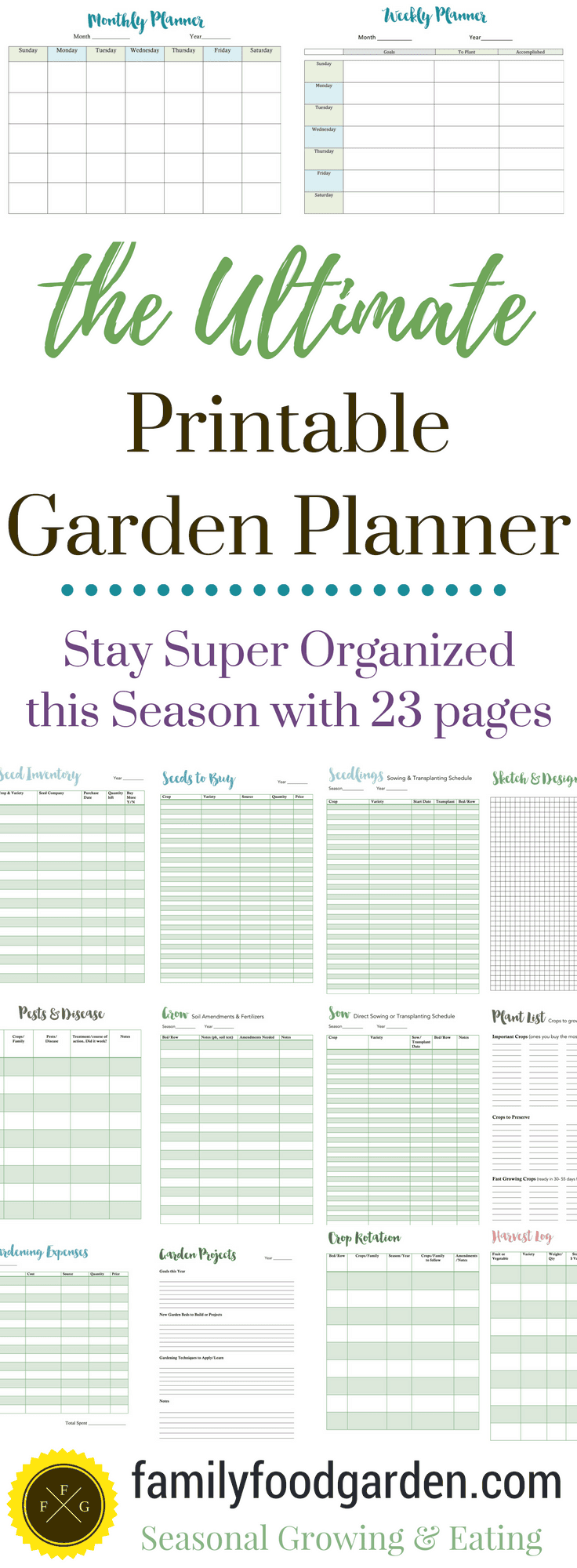 graphic regarding Free Printable Garden Planner identified as Suitable Yard Planner for Backyard garden Designing Spouse and children Food items Yard