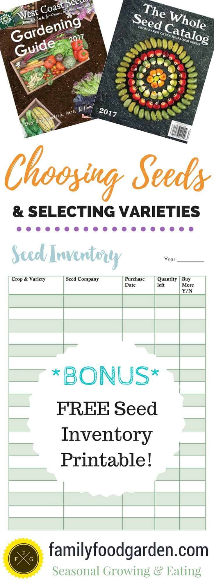 Garden Planning: Choosing Your Seeds & Taking Seed Inventory