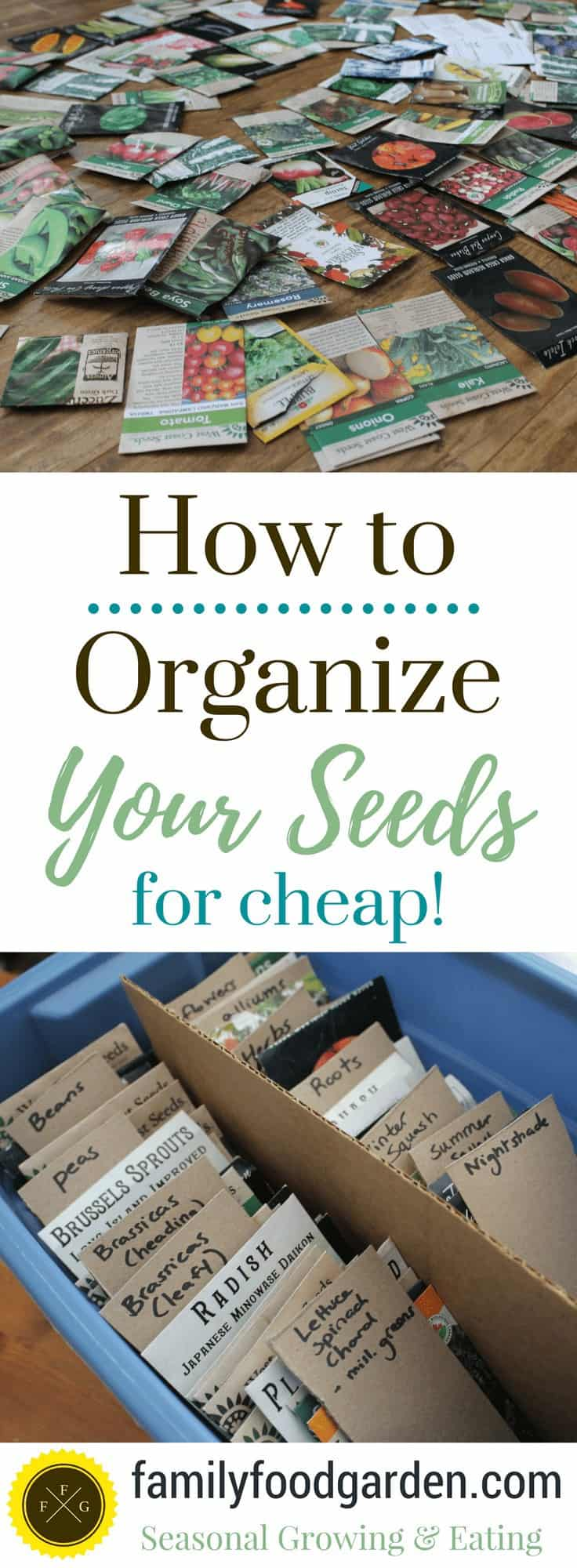 Organize seeds for easier seed inventory taking