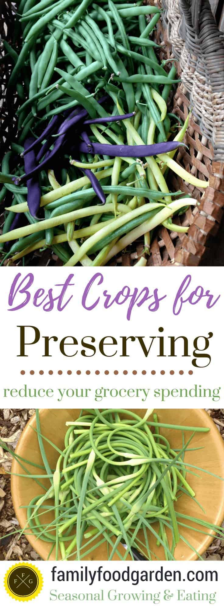 Crops for Preserving