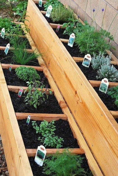 Art U0026 Appetite Made This Gorgeous Raised Bed Herb Garden.