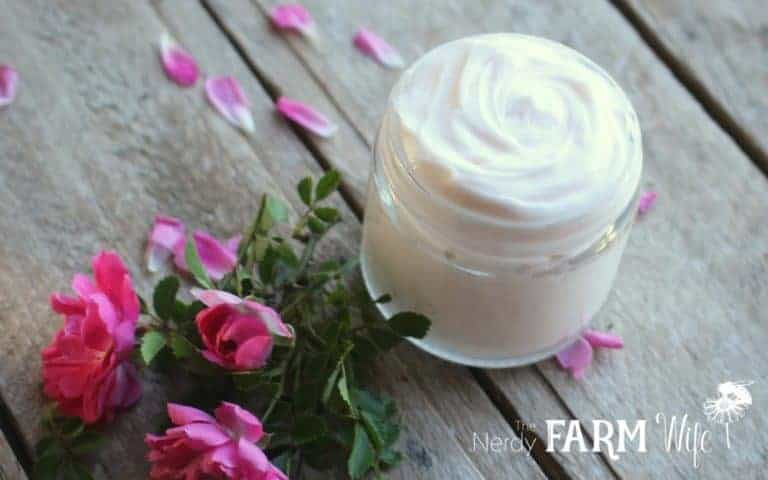 Rose body and face cream recipe