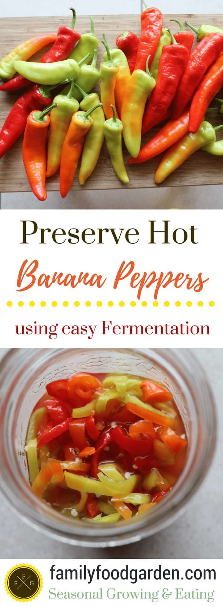 Preserve Hot Banana Peppers with Fermentation