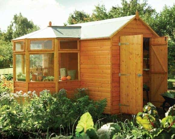 Greenhouse + shed combinations