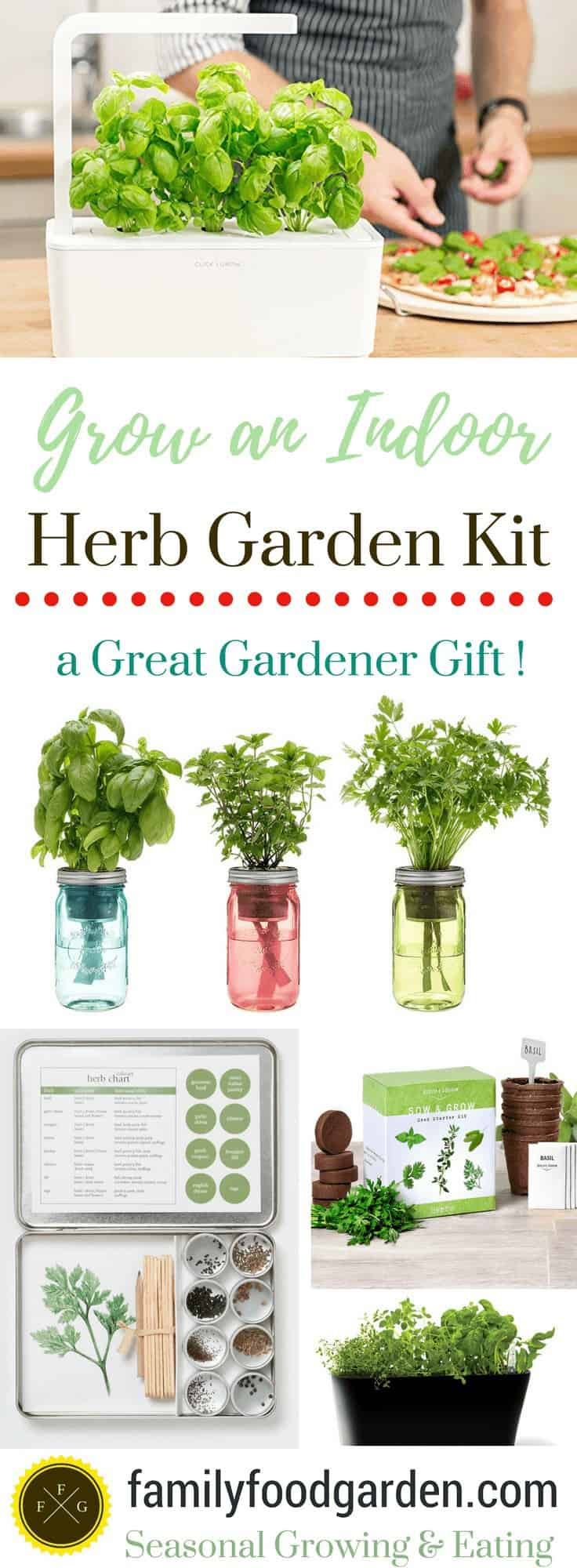 Grow an Indoor Herb Garden with a Herb Garden Kit