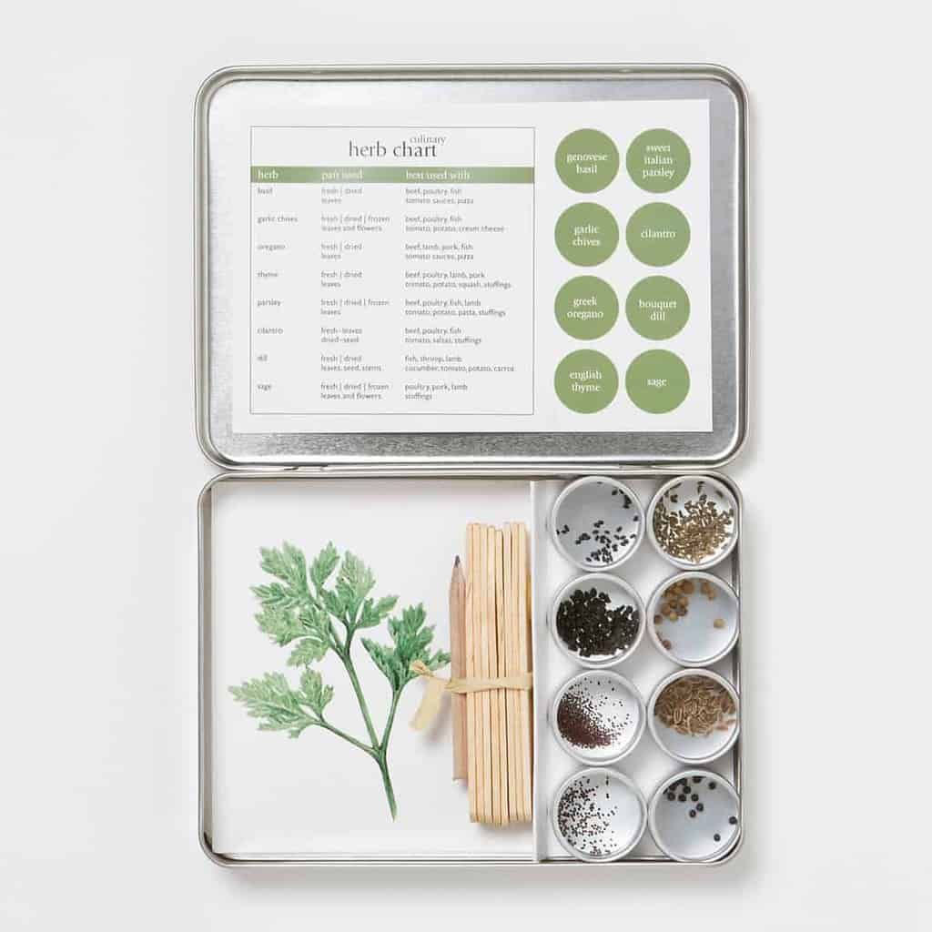 Indoor Herb Garden Kits (a Great Gardener Gift!)