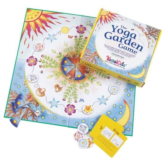Kids yoga garden board game