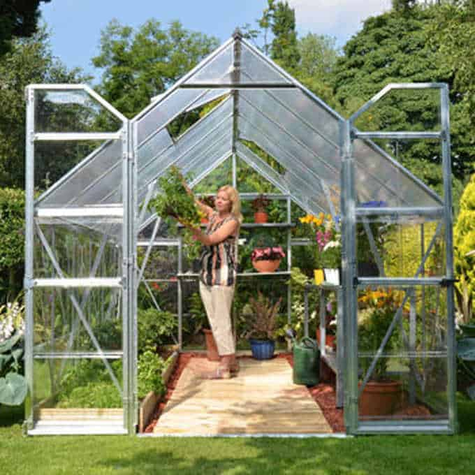 Small Greenhouse Family Food Garden