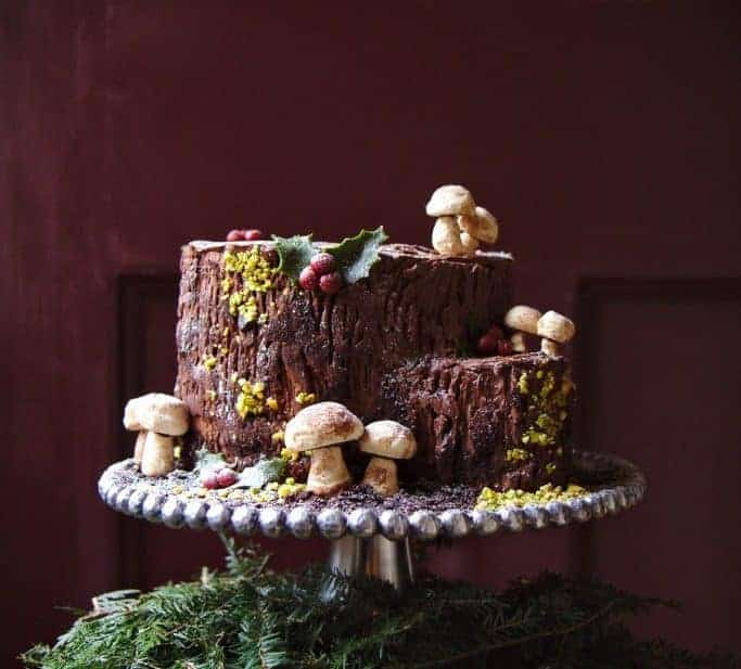 Buche de Noel stump variation