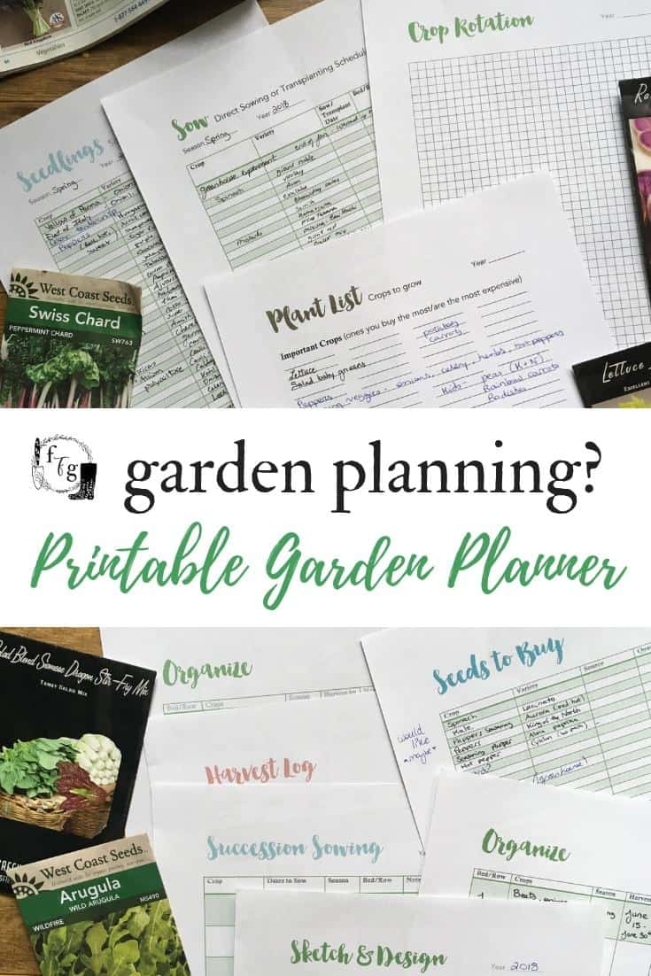 Use a printable vegetable garden planner to stay organize for the gardening season! #gardenplanner #gardenplanning #gardenplanningideas #springgardening #gardening #growyourownfood #homestead