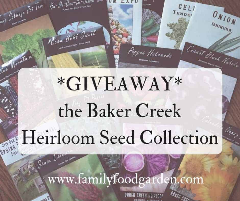 GIVEAWAY: Baker Creek Seeds Heirloom Collection