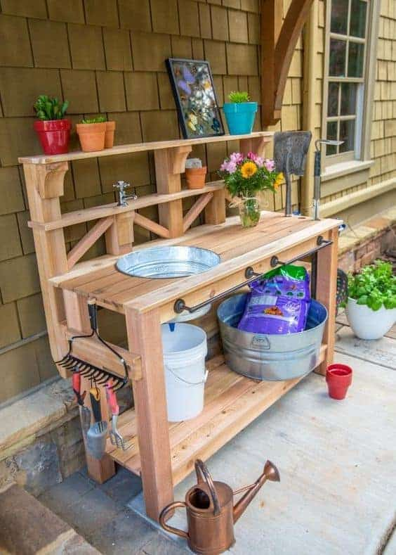 Fun Garden Potting Bench Plans Ideas Family Food Garden
