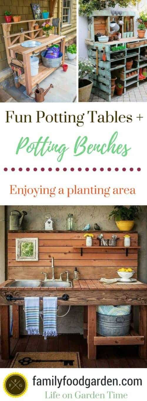 Garden potting bench plans & ideas