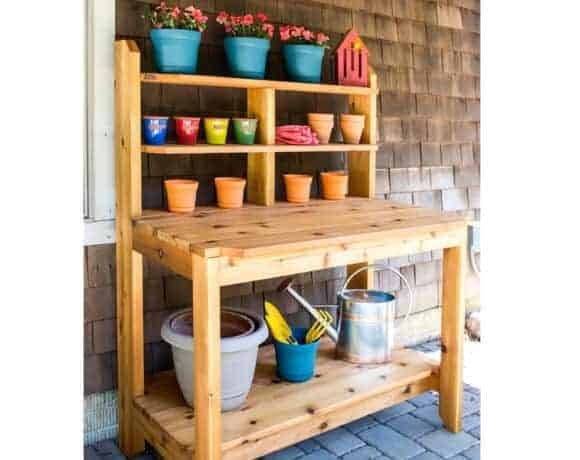 Great potting bench plans