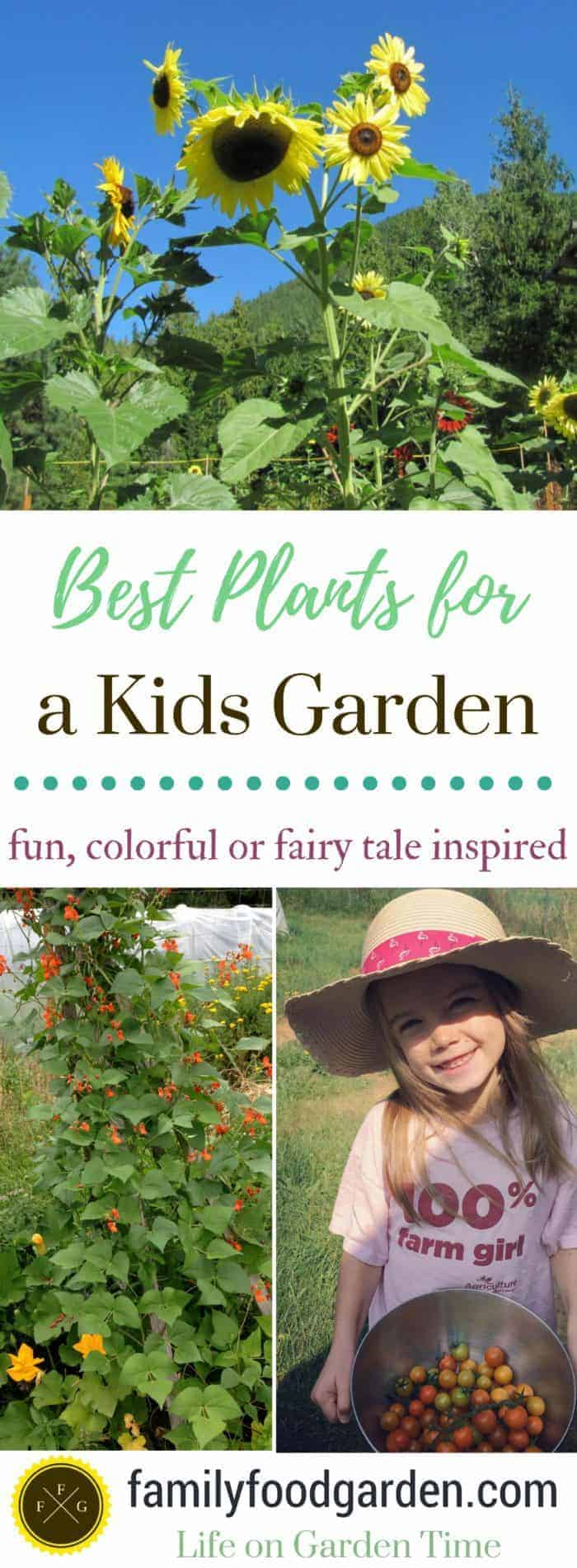 Super fun and colorful plants for a kids garden