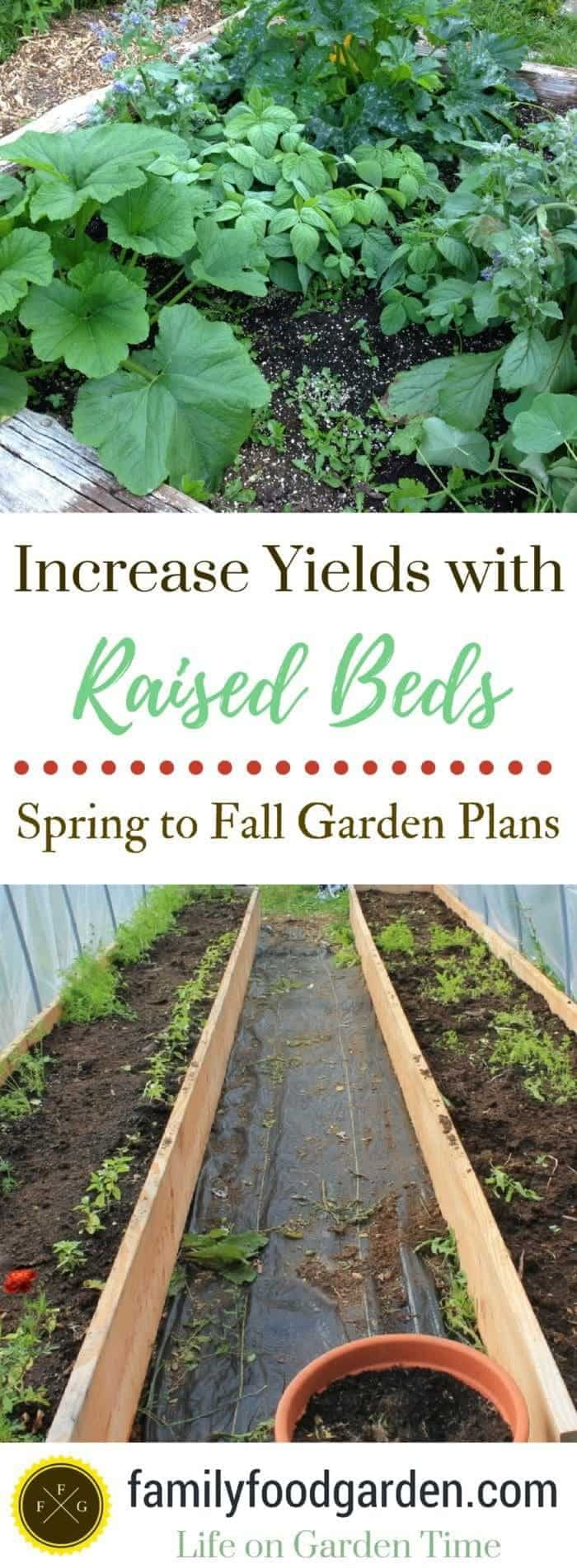Increase yields with raised beds