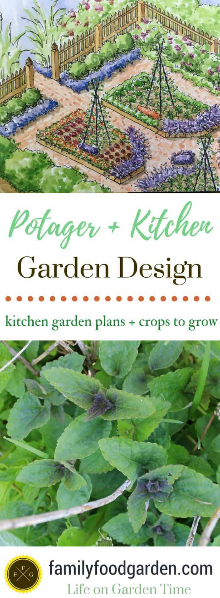 What to plant in a potager garden + kitchen garden design plans