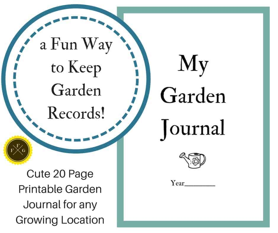 Fun printable garden journal & garden planmner