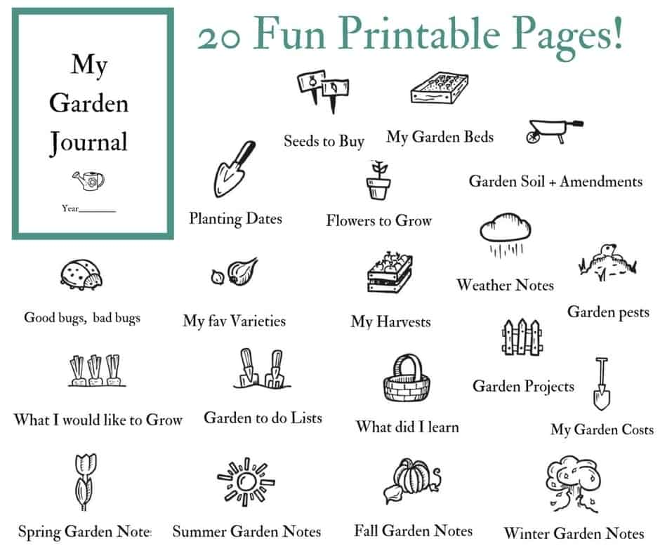 graphic about Printable Garden Journal identified as Back garden Magazine for your Vegetable Yard Loved ones Foodstuff Backyard garden