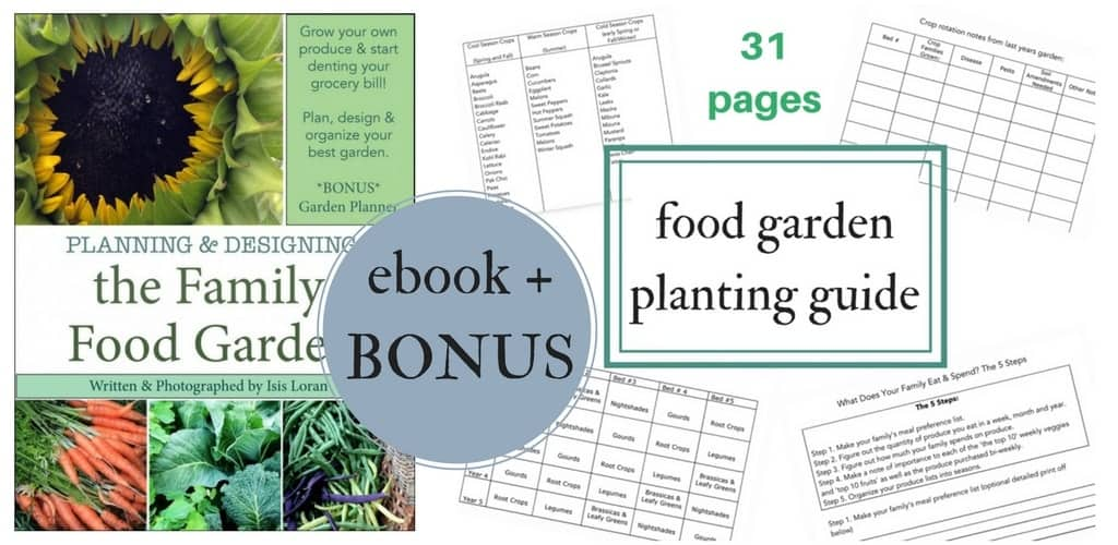 Fantastic resources for garden planning! Vegetable garden planting guide comes FREE with this great garden planning ebook
