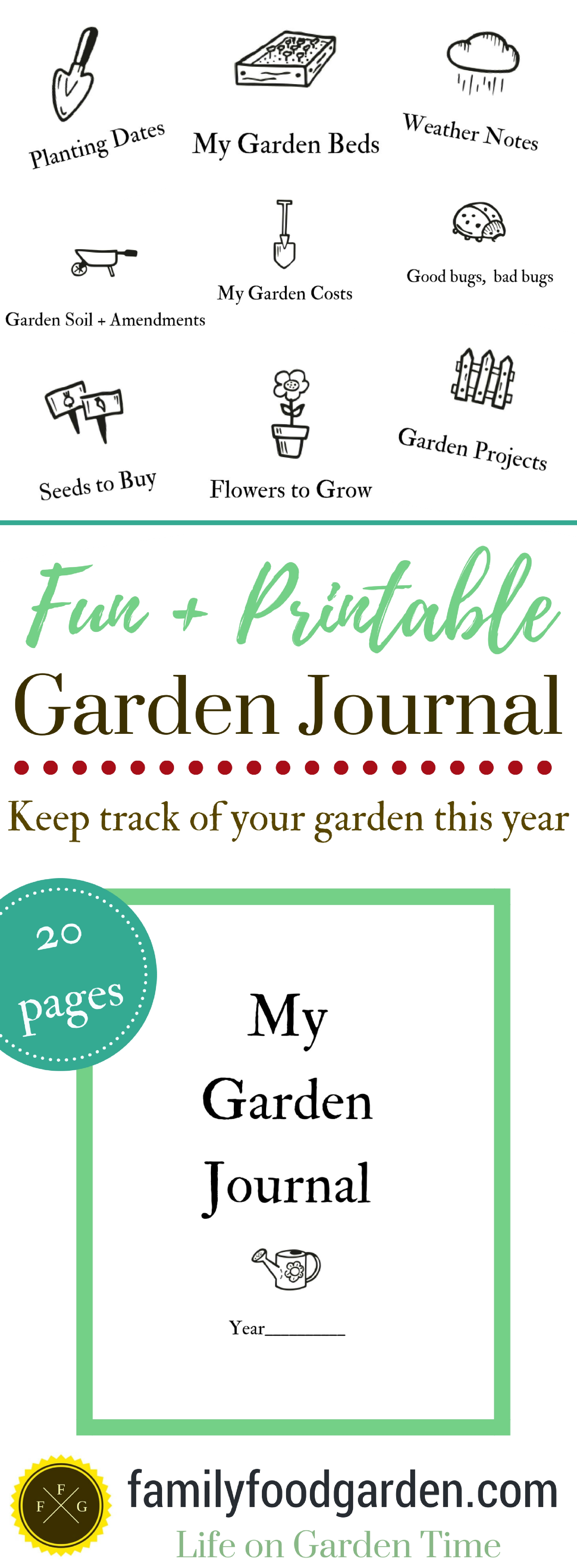photo relating to Printable Garden Journal identify Backyard garden Magazine for your Vegetable Back garden Household Food items Backyard