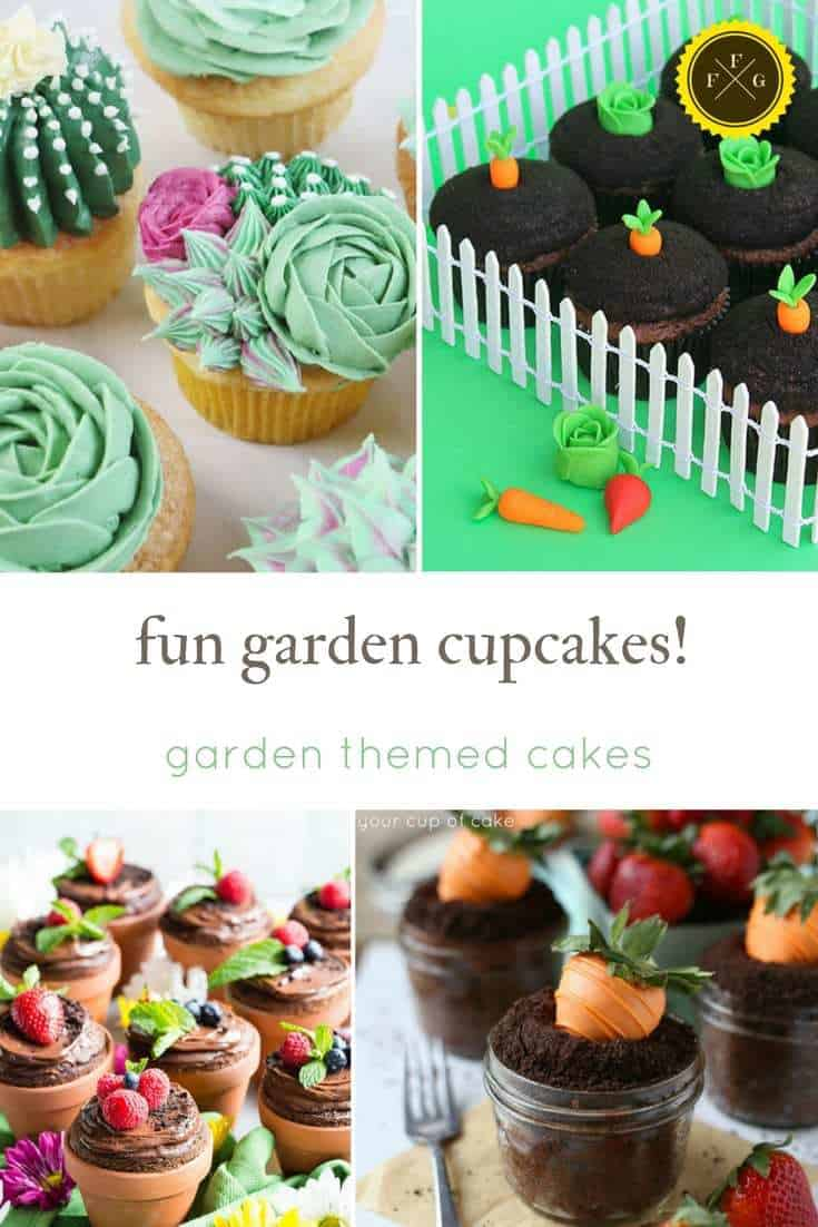 Garden Cakes And Flower Cupcake Ideas Family Food Garden