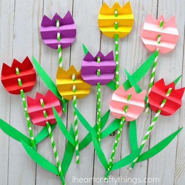 Gorgeous 3d Paper Tulip Flower Craft Knutselen Pasen En Induced Info