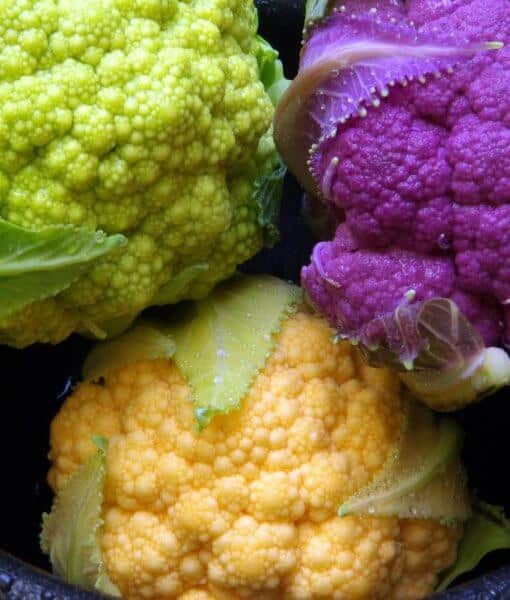 Cauliflower comes in many natural colors!