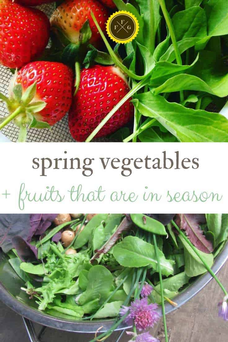 Spring vegetables and fruits that are in season for seasonal eating
