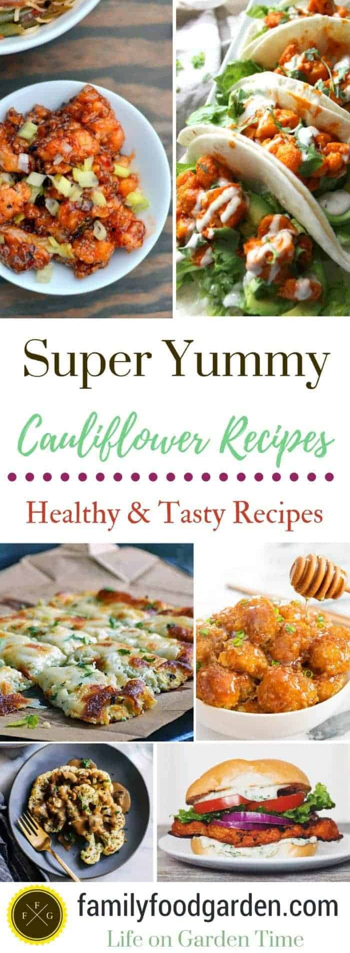 Tasty and healthy cauliflower recipes