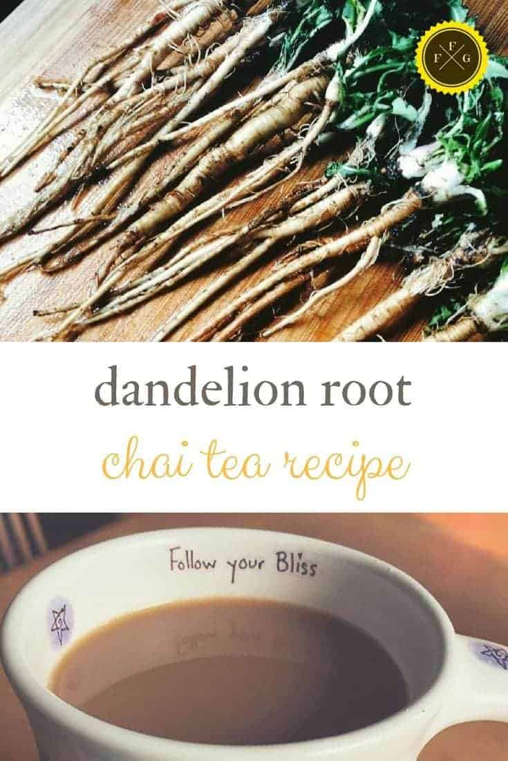 Healthy chai tea recipe using dandelion root