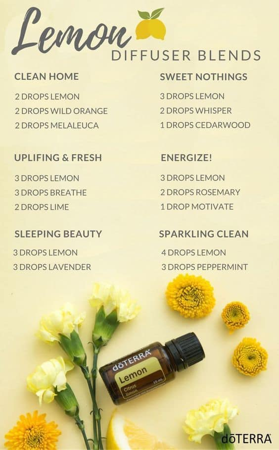 Lemon essential oil doterra diffuser blends