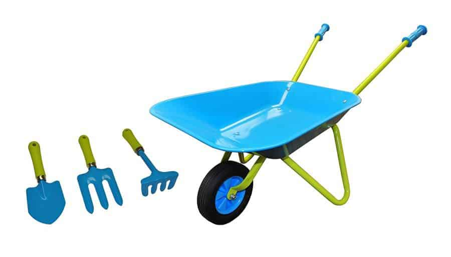 Kids wheelbarrow and garden tool set