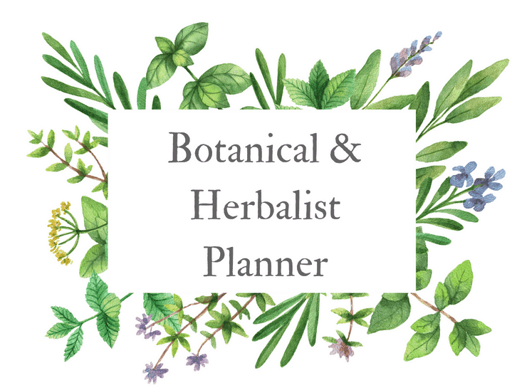 Botanical Planner for Herbalists