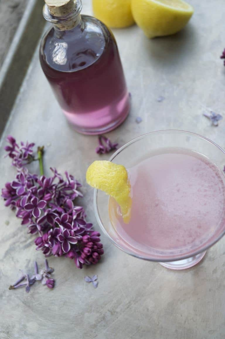 Make lilac syrup and create a lilac infused drink
