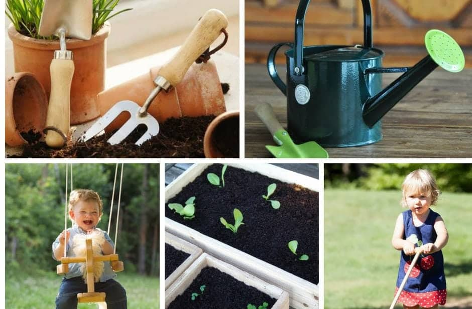 Outdoor toys for toddlers & kids garden tools