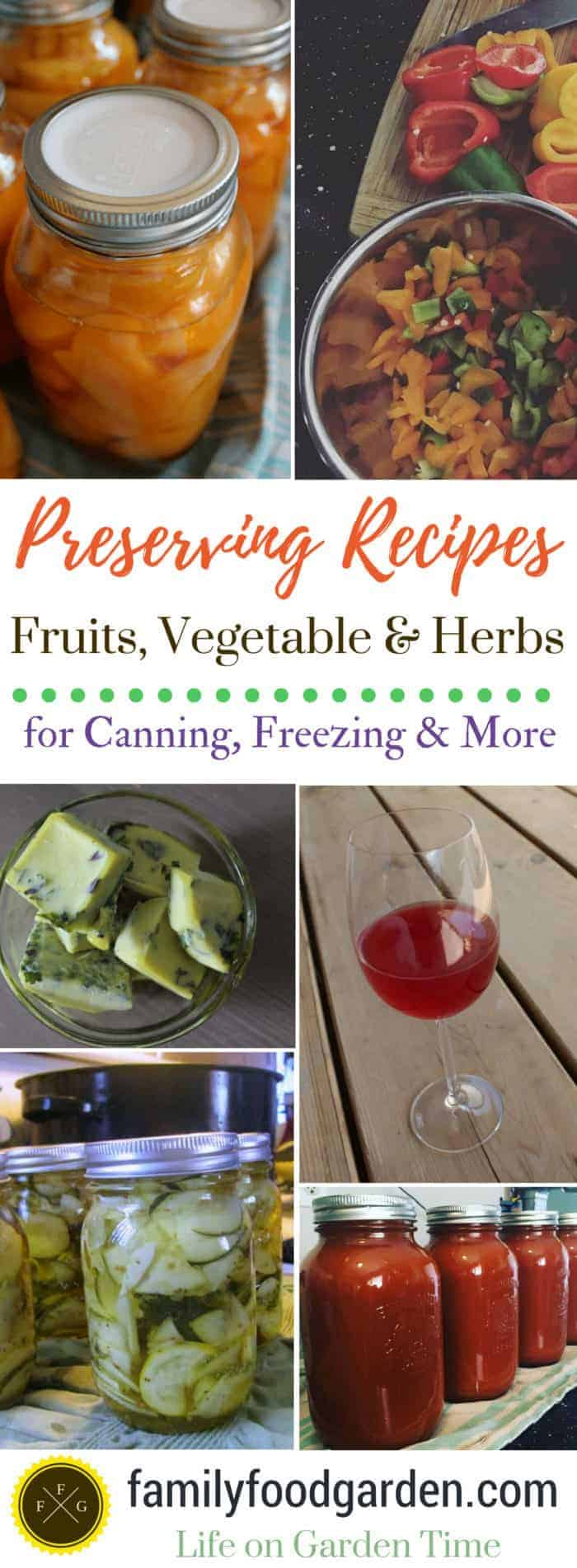 Preserving fruits, vegetables and herbs